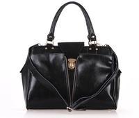 2014 HOT Women's vintage Matte genuine leather handbags black vintage handbags, brown large bags shoulder crossbody bag