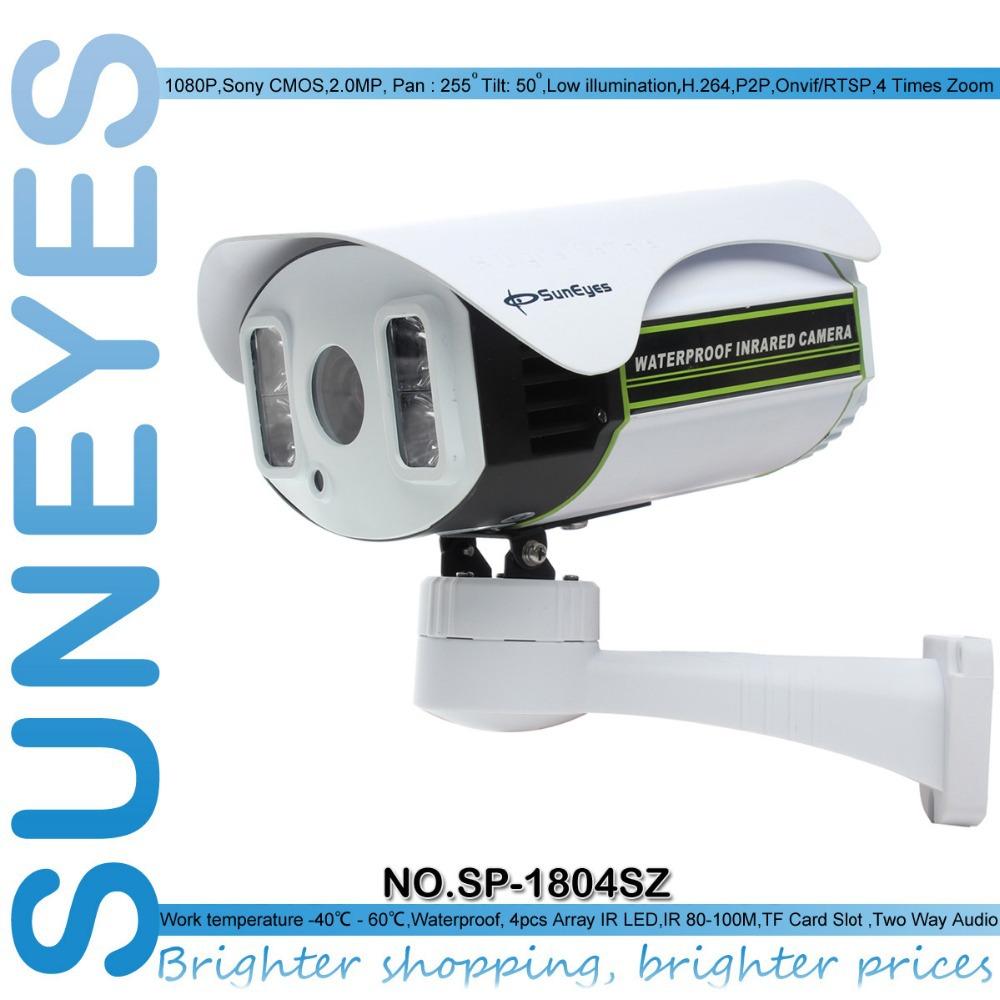 suneyes sp-p1804sz 1080p ip câmera ao ar livre ptz 2.0 mp com tf/micro sd