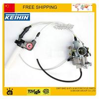 KEIHIN 30mm carburetor with accelerating pump accelerator 150cc 200cc 250cc carburetor dual throttle cable visual throttle grip
