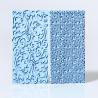 Free Shipping 1 set 15 x 7 cm Mayan Sun Floral Swirl Lace Impression Mat Cake Cookie Embosser Fondant Pastry Icing Sugarpaste