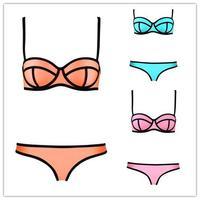 2014 Swimwears Triangl Women's Fashion Neoprene Bikinis Woman New Summer sexy Neoprene Swimsuit Set Push Up Bikini Set #B1121