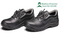 Free shipping safety shoes PU bottom wear-resistant slip-resistant breathable steel head protective shoes