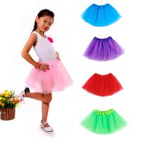 The Most Popular Summer 2014 Fantasia Infantil Tutu Skirt 3 Layered Tulle Soft Fluffy Skirts For Girls 9 Colors For Choose