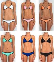 2014 Hot Sale Neoprene Bikini Set For Women,5 Colors Neon Triangl Swimsuit NEOPRENE Swimwear,Size XS-L,Drop Shipping #B0127