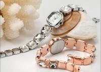 Women Brand Luxury Rhinestone Bracelet Dress Watches Vogue Elegant Lady Evening Dress Clock Quartz Bangle Wristwatch Reloj NW412