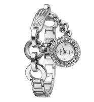 2014 Girls Vogue Dangle Quartz Bracelet Watch Brand Fashion Crystal Bangle Wrist watch 316L Steel Korean Women Dress Clock NW414
