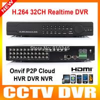 CCTV DVR 32 Ch Hybrid nvr/hvr/dvr 32ch realtime support onvif HDMI 1080p P2P cloud network video H.264 security stand alone dvr