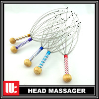 200pcs/lot FREE SHPPING TO EURO CA New Head Massager Massage 12 Arms Wonder Relaxation Circulation