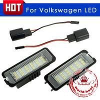 Car LED For Volkswagen VW Golf Golf4 LED License plate light free shipping
