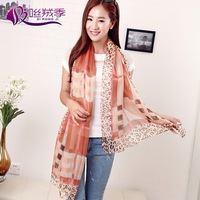 2014 New Collection Printed Chiffon Scarf