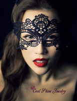 Women Sexy Lace Masks Masquerade Mask Catwoman Photography Props Black and White Hollow Flowers Lack Mask