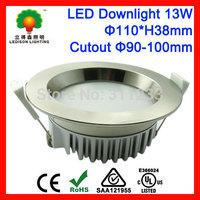 CE SAA UL Approved LED Downlights 13Watt 90-100mm Cutout 1100-1200LM