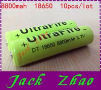 10pcs/lot 18650 rechargeable batteries 3.7v 8800 mAh Lithium li-ion battery for led Flashlight batteri batery ,3pcs series= 12V