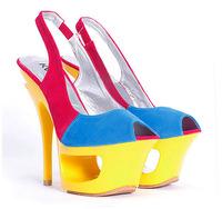 elegance  high heel lady women sandals slides , fashion party shoes