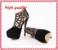 ankle boots summer new 2014 sexy rhinestone pumps high heels wedding party dress bridal shoes summer boots for women Z839