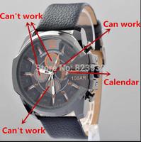 HOT SALE fashion luxury brand DZ 4291 sports watches, men's quartz watches,military watch(black gold gun)Calendar+free shipping
