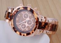 Sexy Leopard Women Bracelet Watches Popular Brand GEVENA Dress Clock Gold Plated 6 Hands Analog Wristwatch Relojes 1ATM NW385