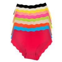 La Isla Women's Seemless Bikini Hipster Pant Black Orange Blue Beige Pink White Yellow