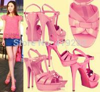REAL PHOTO!Fashion Women 12cm Platform Sandals Cross Strappy Animal Prints Tribute Sandal