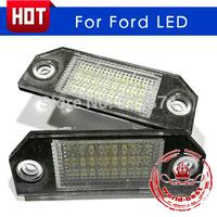 White LED License plate light Lamp licence frame lamp for Ford Focus C-MAX MK2 Error Free car number plate lights