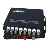 High quality 1pair 8v1d 8 channel video/data/Audio fiber optic media converter,RS485,up 20KM,FC interface,Anti-lightning!