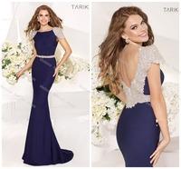Real Sample Stunning Elegant TARIK EDIZ Brand Evening Dresses Gowns Mermaid Handmade Crystal Custom Made