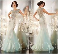2014 New Design Amazing Real Model Elegant Panoply Design Sexy Prom Dresses Floor Length Free Shipping