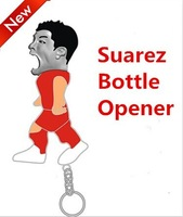 2014 Brazil World Cup New Cartoon Suarez beer Bottle Opener Key Ring Keyring Chain Metal Bar Tool