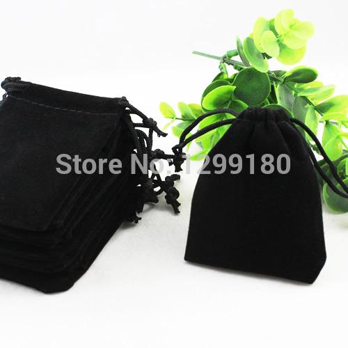 10x12cm 50Pcs/lot Black Velvet Drawstring Pouch Bag/Jewelry Bag Christmas/Wedding Gift Bag (K00198)(China (Mainland))