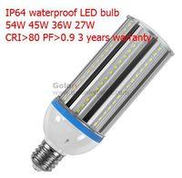 45W E40 LED corn bulb 4700Lm,IP64 waterproof, Low price high quality , 4pcs/lot,3 years warranty Fedex/ DHL free E40 led light