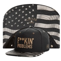 2014  NEW Cayler & Sons gold F**KIN FUCKIN problems Snapback hats USA flag mens womens baseball caps hip-hop cap Free Shipping