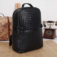 genuine leather women backpacks hand woven  women backpack hot sale high quality brand design women backpacks