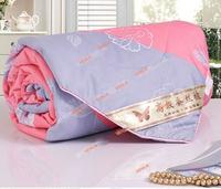 Hot!150*200cm silk  High quality quilt comforter/duvet blanket For summer Bedspread Handmade