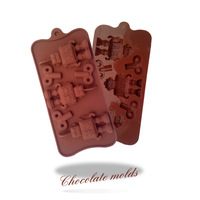Cute robot shape silicone chocolate Bakeware mould for the kitchen baking tools