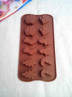 Mooncake Cupcake Cute Robot Shape Cake Silicone Chocolate Bakeware Mould Molds For The Kitchen Baking Tools