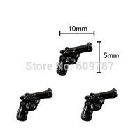 20pcs/lot Pistol nail design 3d gun alloy nail charms DIY studs nail art supplies