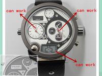 Best Seller Super mens watches top brand luxury leather oversized zone fashion sport watches for men DZ  Wristwatch 3 movement
