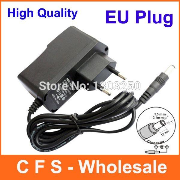 50pcs AC 100V-240V Converter Adapter DC 12V 1A / 12V 500mA / 9V 1A / 5V 2A Power Supply EU Plug Free shipping Wholesale(China (Mainland))