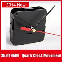 Cheap Simple DIY Quartz Wall Or Desk Clock Step Quartz Movement Mechanism Shaft 9MM Repair Parts With Metal Full set Hands