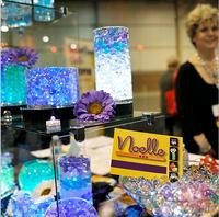 Life83  100bag/lot  5g/bag Pearl shaped Crystal Soil Water Beads Mud Grow Magic Jelly balls wedding Home Decor