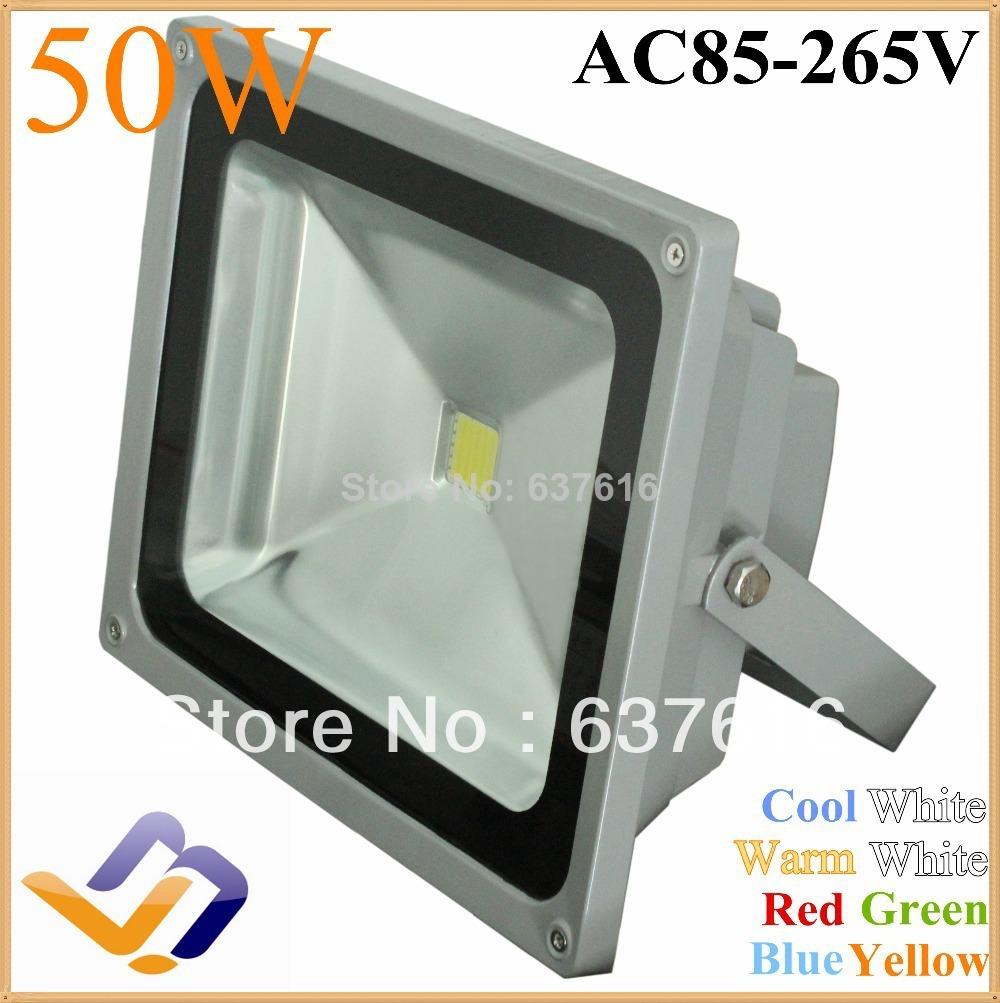 Factory sale!LED flood light Advertising lamp 85-265V 50W Landscape Lighting waterproof IP65 Floodlight outdoor street Lamp(China (Mainland))
