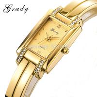 2014 free shipping New product fashion lady bangle design watch women brand rhinestone watch
