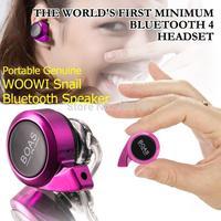 BOAS Mini Stereo Wireless bluetooth v4.0 Earphone protable handfree Headphone With Microphone For iphone samsung Smart Phone