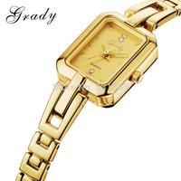 Grady hot sale women luxury brand wristwatch stainless steel back case watch women dress watch