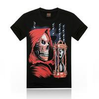 Free Shipping fashion tops summer 3D human skeleton print men T-shirts,o-neck t shirts men's t shirt cotton men's T shirts,KT031