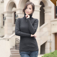 7 Solid Colors Female 2014 Brand Newborn Fashion Pullovers Autumn Winter Womens Brief Long Sleeve Knitted Turtleneck Sweaters