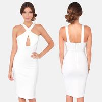 women summer dresses piquancies midi super slim elastic knitted cross trigonometric women summer dresses