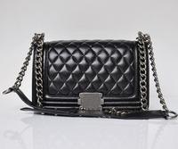 High Quality Le Boy Women Genuine Leather Flap bag Famous Name Brand Designer Chain Shoulder Messenger Quilted handbag