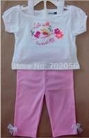 2 pcs set Baby tops t-shirts shorts 12sets/lot#3685