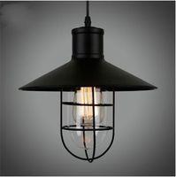 Vintage Edison Industrial Pendant Lamp Loft American Country Restaurant  Hanging Lights Wrought Iron Industrial Lighting